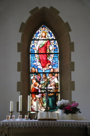 Altar in der Laurentiuskirche in Widdern